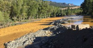 A recent mine wastewater spill caused the Animas River to turn a deep shade of orange