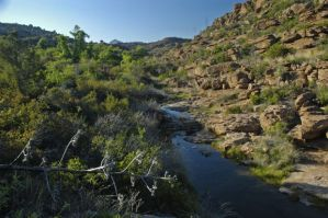 Gaan Canyon, as it currently flows. This clean source of freshwater could become polluted if the mine is built.